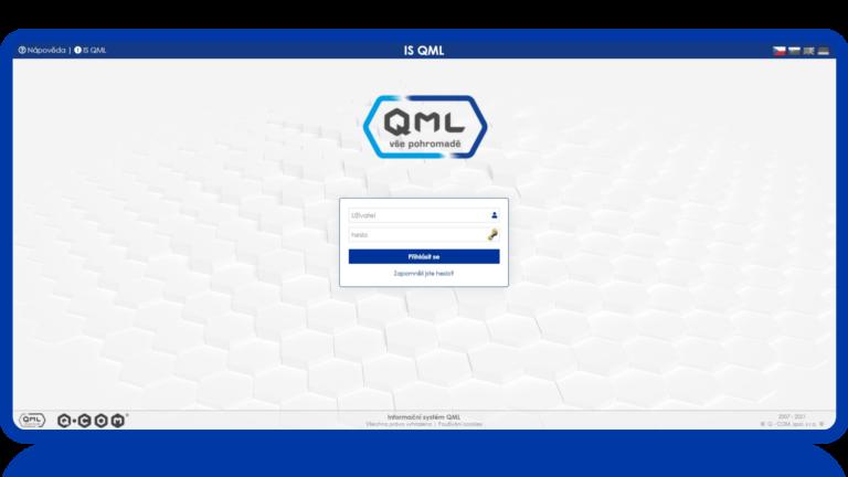 Přihlašovací obrazovka QML